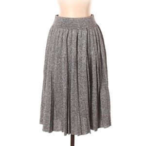 Levi's Pleated Metallic Midi Skirt